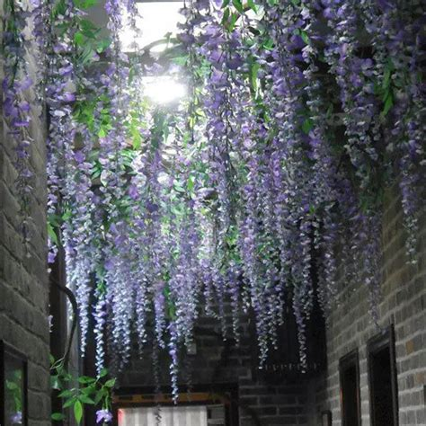 in home decorating wisteria flowers and gifts 1 x long artificial wisteria vine silk flowers hang store