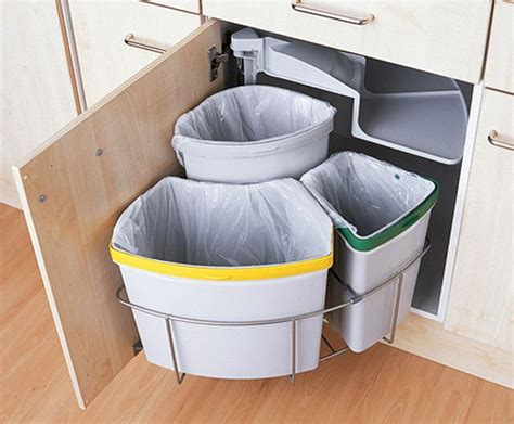 kitchen trash can ideas tidy recycling and trash area for a tiny home planning a