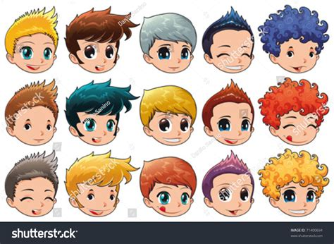 Group Faces Different Expressions Hair Cartoon Stock Vector 71400694   Shutterstock