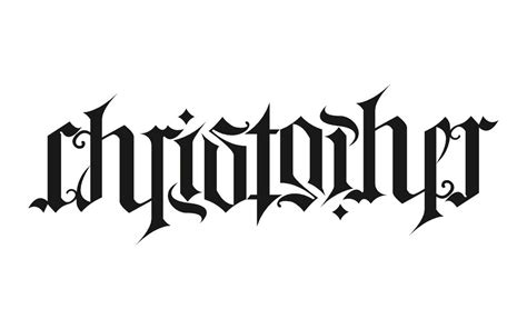 tattoo lettering ambigram design ambigram christopher wordplay n ambigrams