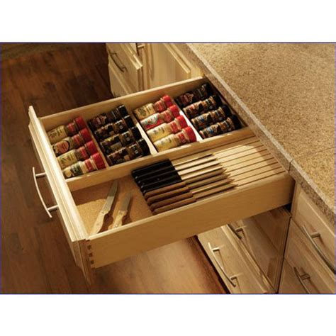Spice Drawer Organizers by Drawer Organizer All Wood Spice And Knife Dovetailed Drawer Available In Baltic Birch Or