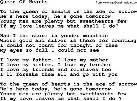 Theme Song Queen Of Hearts | joan baez song queen of hearts lyrics