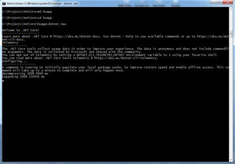 node js gulp tutorial tutorial votre premier projet net core 1 1 1 sous windows