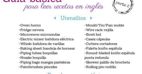 sucre de maduixa guia basica  leer recetas de reposteria en ingles segunda parte