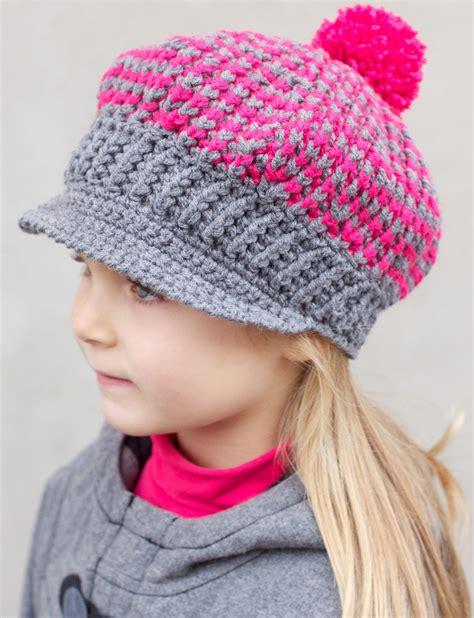 free pattern newsboy hat patons newsboy s and girl s caps crochet pattern