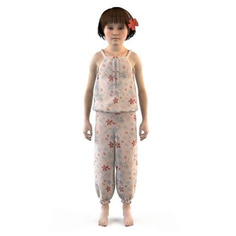 T shirt girl dress t shirt skirt baby clothes 3d cgtrader