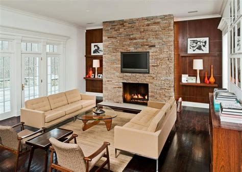Mid Century Modern Fireplace by See This House 8 Million Buys Two Styles In One
