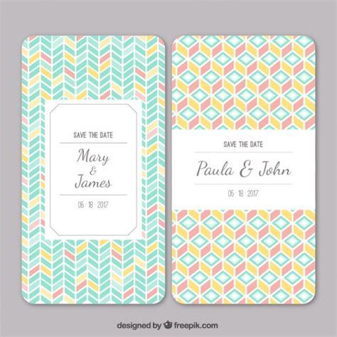 freepik wedding pattern wedding invitation with geometric pattern vector free