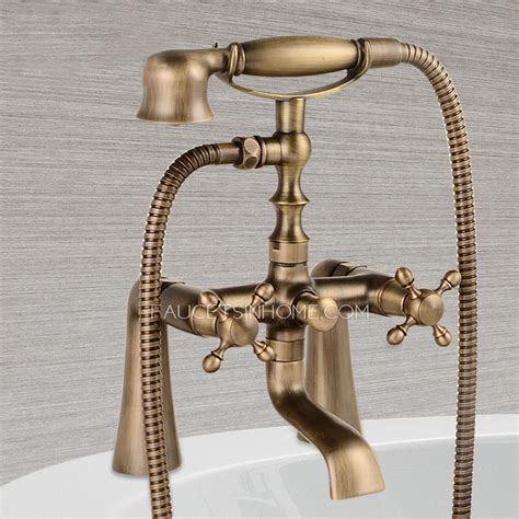 antique bathtub fixtures antique brass sitting bathtub faucet with hand held shower