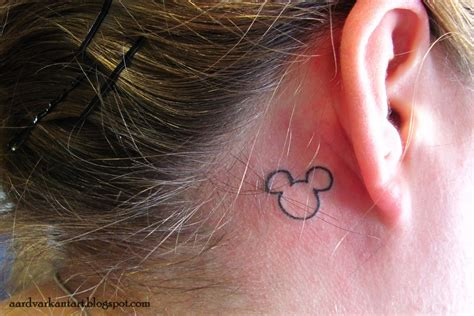 mickey tattoo aardvark ant newer work
