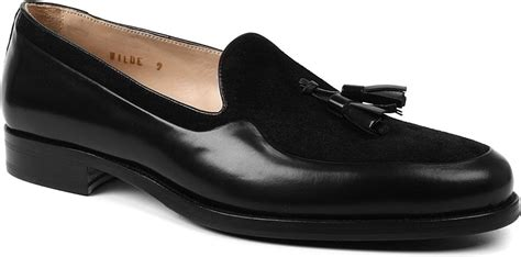 mr hare loafers mr hare wilde suede tassel loafers in black lyst