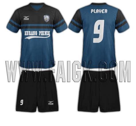 desain baju futsal biru hitam baju futsal faigk tim futsal kurang piknik faigk com