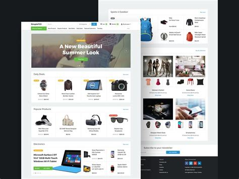 20 Elegant Free Ecommerce Psd Website Templates Utemplates Easy To Build Websites From Templates