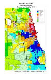map of neighborhoods neighborhood types chicago and vicinity 2000