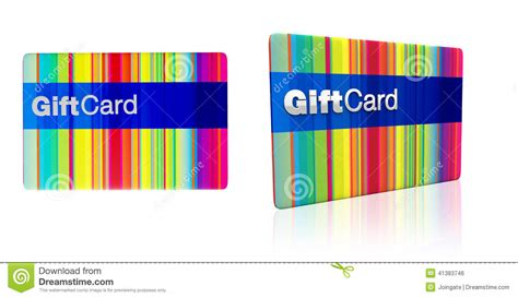 Rainbow Gift Card - striped rainbow colours gift card with silver emboss stock photo image 41383746