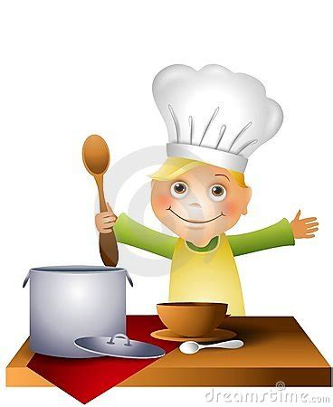 cucina baby chef boy cooking clipart