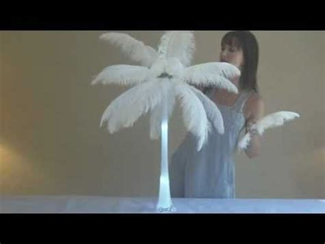 how to make ostrich feather centerpieces youtube