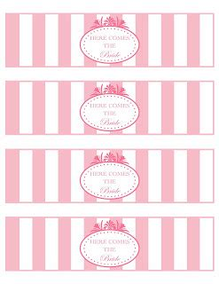 free printable bridal shower labels free printable bridal shower water bottle labels by paper
