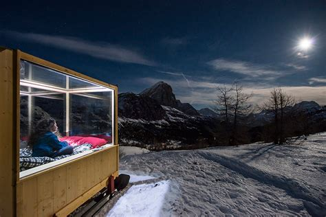 starlite room tiny starlight room in the dolomites offers dramatic views of the alpine landscape