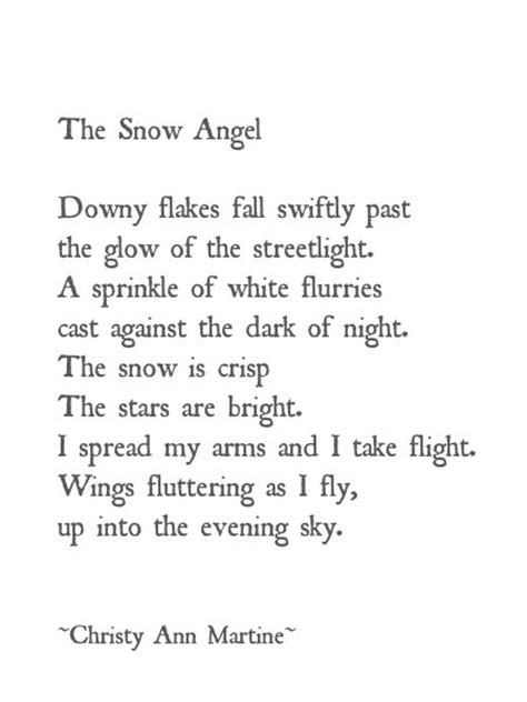 The Snow Falling Into My Wings Vol 1 the snow poetry martine poem snow poetry glow snow