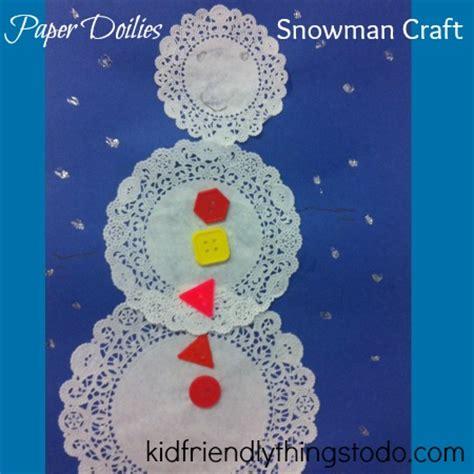 paper doilies snowman craft a winter craft