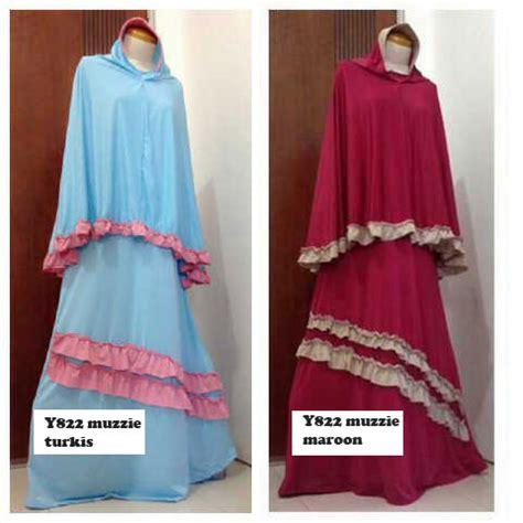 Gamis Muslim Anak Set Bergo gamis muzzie bergo busui y822 model baju muslim syari
