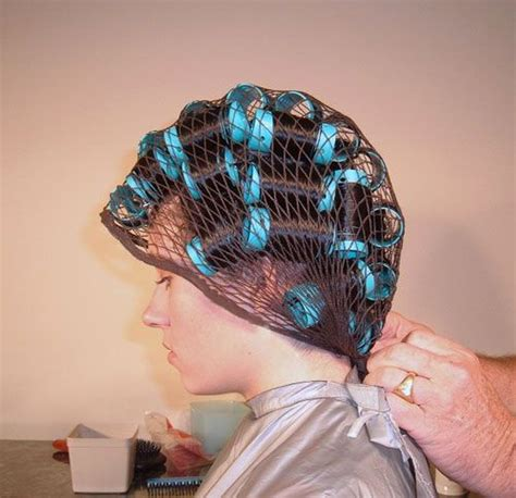 rollers hairnet dryer 406 best hair nets over hair rollers images on pinterest