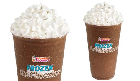 frozen hot chocolate calories large dunkin donuts unleashes a frozen hot chocolate