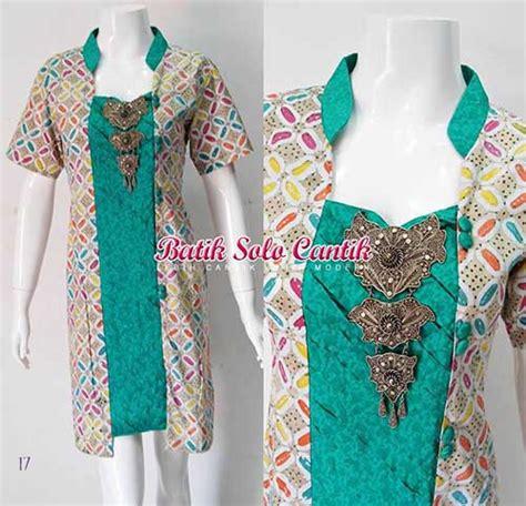 Blus Batik Embos Cap Ba6776 model baju kerja wanita batik kombinasi embioss