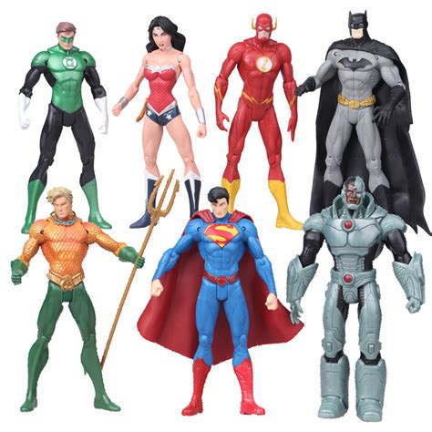 aliexpress buy 7pcs set justice league superman the flash batman green