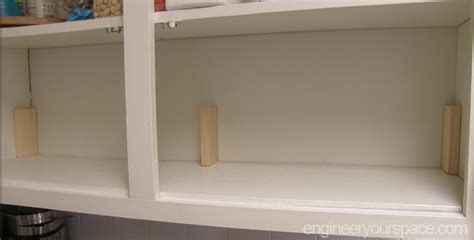 kitchen cabinet shelf supports small kitchen ideas add an extra shelf in your upper