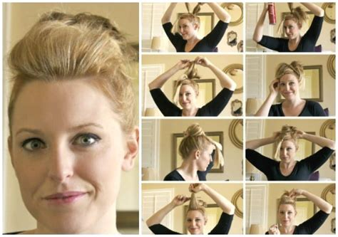how to do short hairstyles full top knot hairstyle for short thin hair somewhat simple