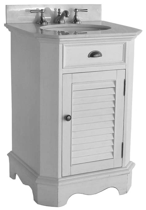 Coastal Bathroom Vanity 24 Inch Bathroom Vanity Cottage Coastal Style Faux Finish White Color 24 Quot Wx21 Quot Dx35 Quot H