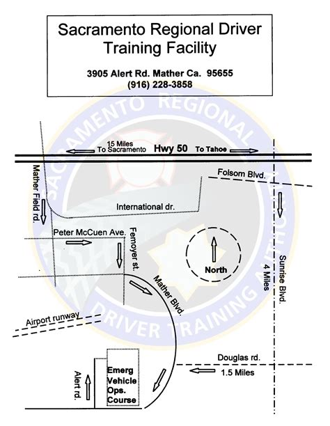 evoc driving course diagram sacramento county sheriff s department emergency vehicle