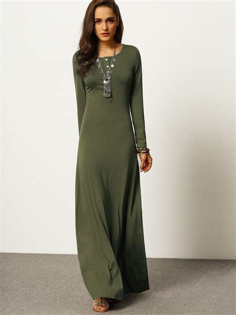 army green long sleeve maxi dress dresses maxi dress