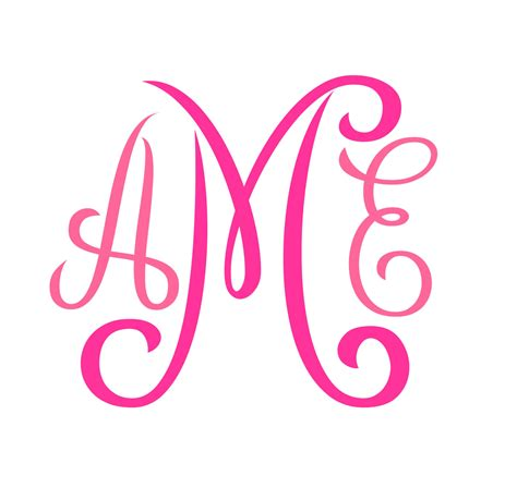 free printable fonts no download monogram svg font no 01
