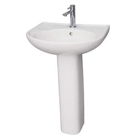 bathroom sink combo barclay products compact 450 18 in pedestal combo