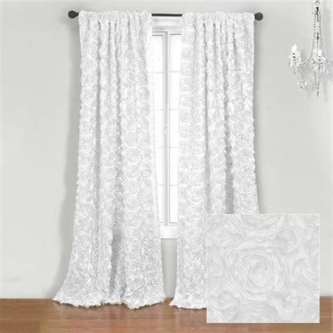 roses curtains white roses curtains romancing my home pinterest
