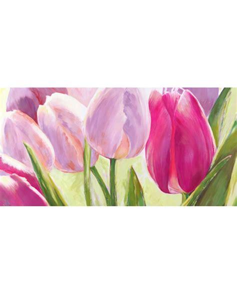 cuadros tulipanes leonardo sanna cuadro flores tulipanes violeta panoramico