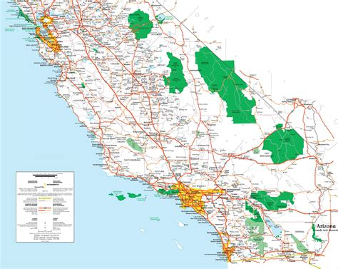 map southern california printable map of southern california printable maps