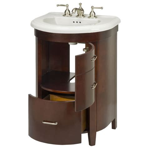 Rounded Bathroom Vanity Bathroom Vanities 23 One Door And One Bottom Drawer Semi Vanity For Bolero Sink