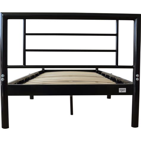 wooden slat bed frame single metal bed frame strong wooden slats in black