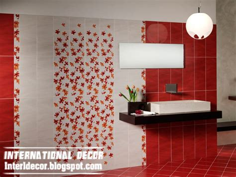 red and white tiles for bathroom modern red wall tile designs ideas for bathroom