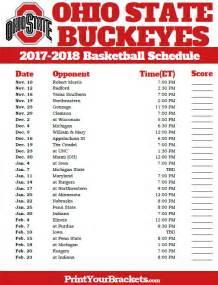 printable ohio st buckeyes 2016 2017 basketball schedule