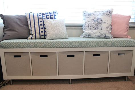 diy ikea bench 8 cool diy ikea hacks for kids toy storage shelterness