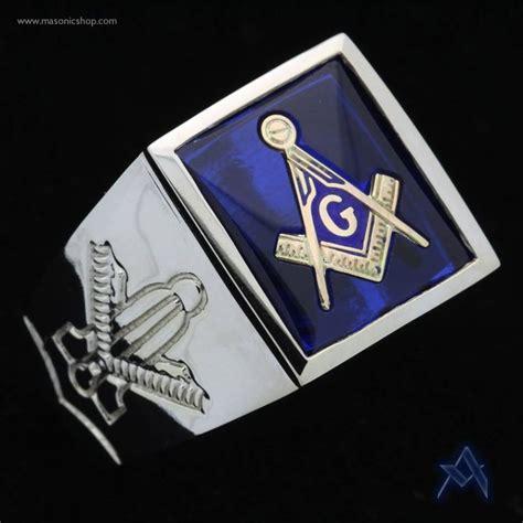 custom 14k white gold masonic ring masonic rings