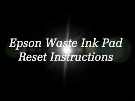how to reset waste ink pad counter epson t60 how to reset any epson printer waste ink pad counter error