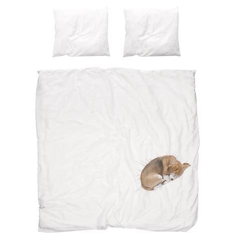 snurk bedding snurk beddengoed bob dog bedding white 3 sizes