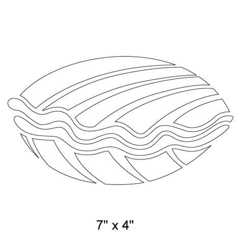 clam stencil
