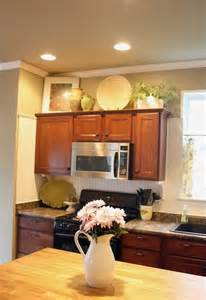 Kitchen Decorating Ideas Above Cabinets Decor For Cabinet Tops Home Design And Decor Reviews